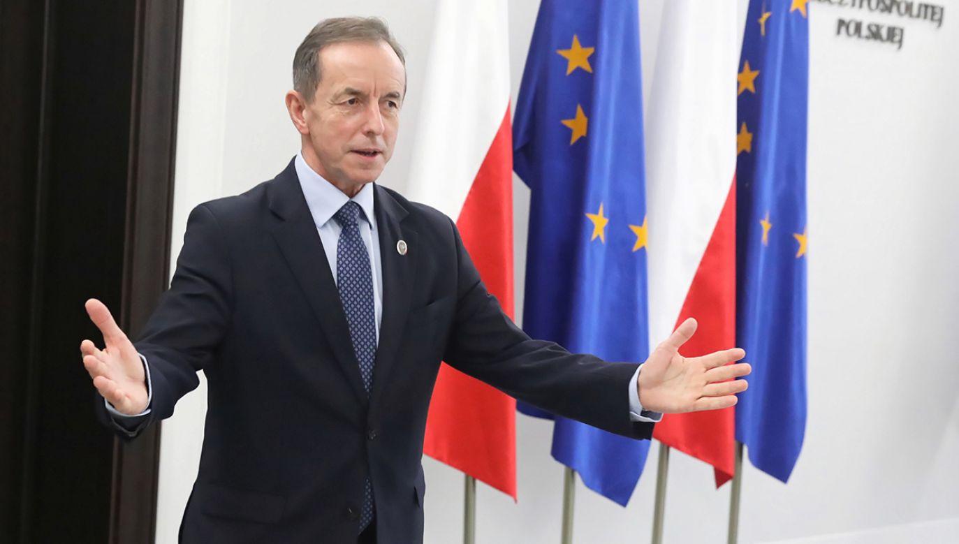 Flagi unijne były obecne w Senacie (fot. PAP/Tomasz Gzell)