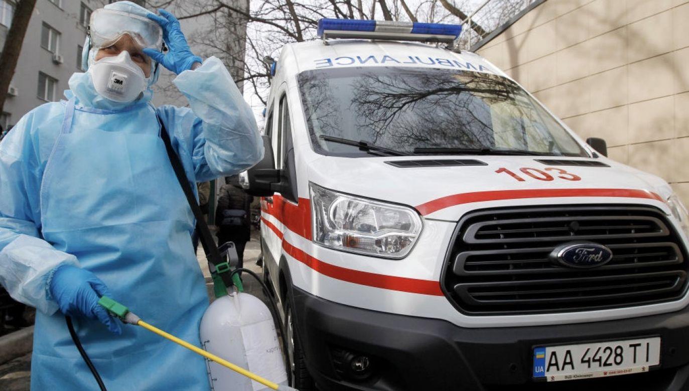 Ogółem od początku epidemii zakażenie koronawirusem potwierdzono na Ukrainie u 322 879 osób (fot. Pavlo Gonchar/SOPA Images/LightRocket via Getty Images)