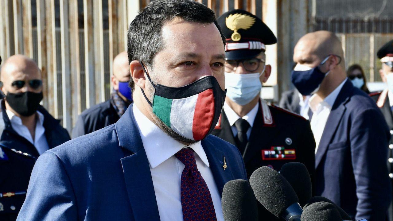 Matteo Salvini  (fot. PAP/EPA/ORIETTA SCARDINO)
