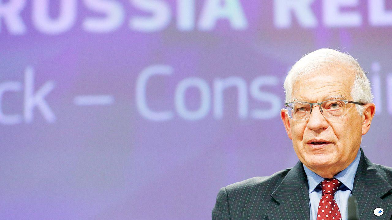 Josep Borrell przedstawił raport na ten temat (fot. PAP/EPA/JOHANNA GERON / POOL)