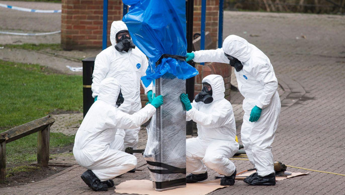 Wielka Brytania oskarża o atak nowiczokiem Rosję (fot. PAP/EPA/WILL OLIVER)