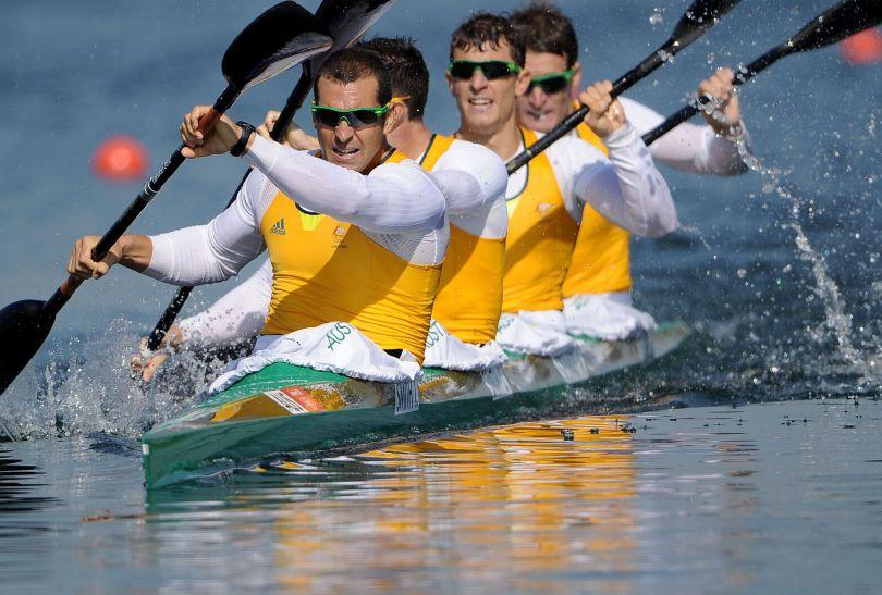 Australijczycy zostali mistrzami olimpijskimi w rywalizacji K4 na 1000 metrów (fot. Getty Images)