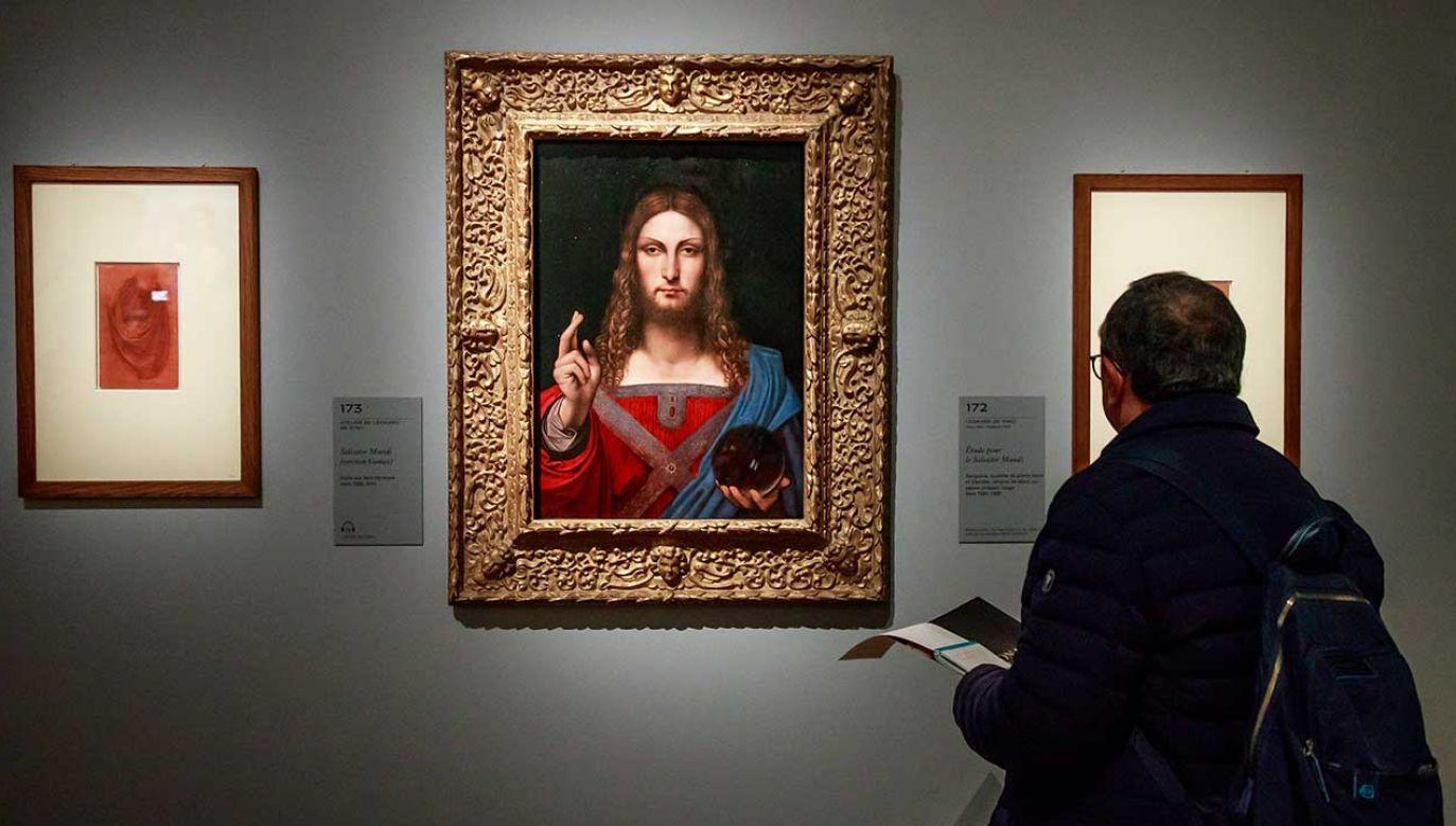 Salvator Mundi (Zbawiciel Świata) Leonarda da Vinci, wielki nieobecny wystawy (fot. REUTERS/Vincent Kessler)