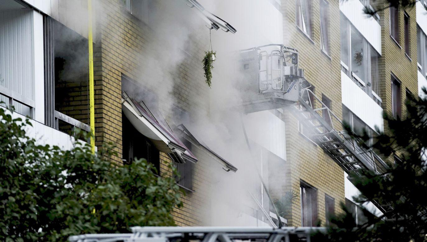 Na miejsu trwa intensywna akcja ratunkowa (fot. PAP/EPA/BJORN LARSSON ROSVALL/TT)