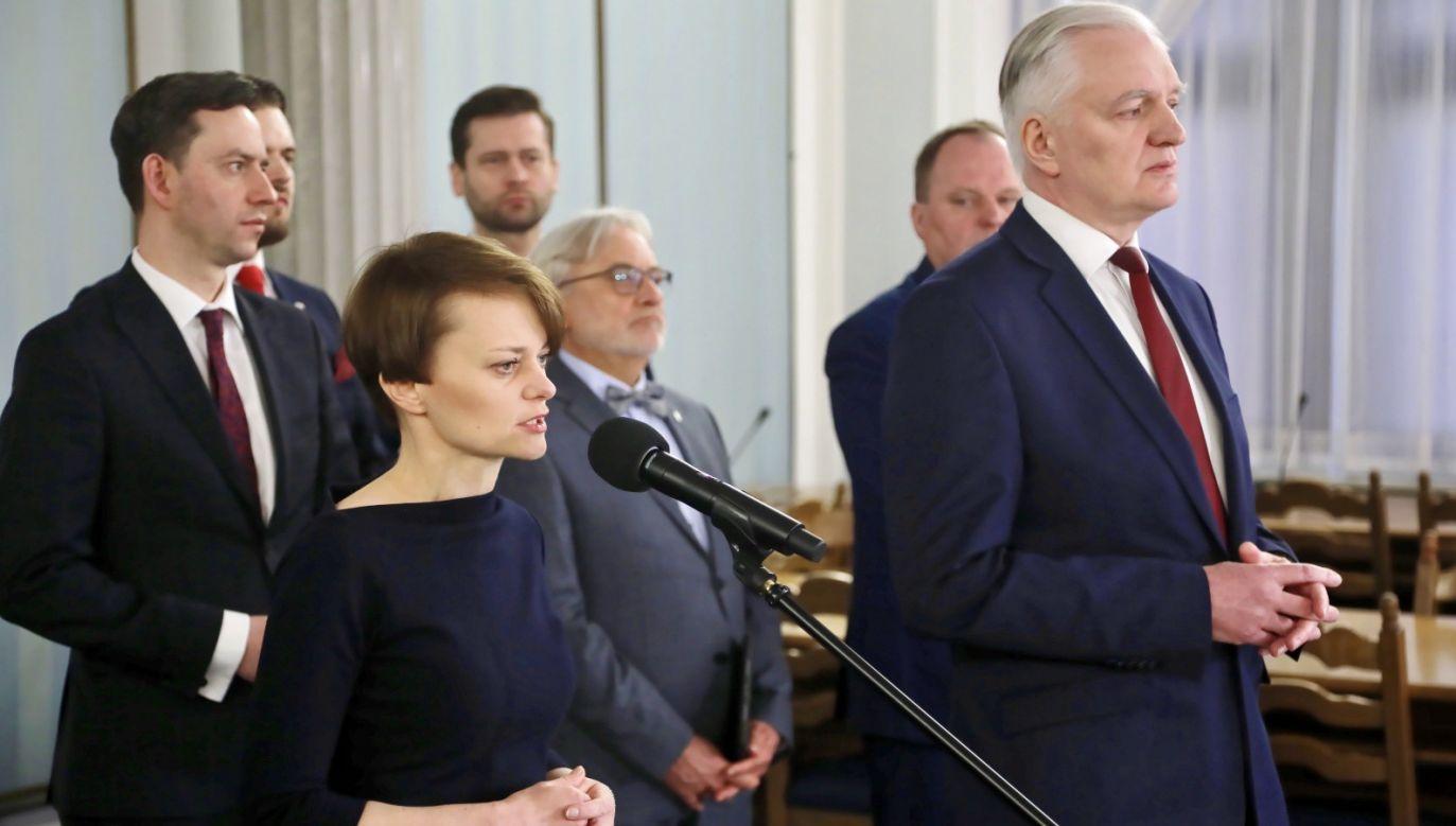 Porozumienie rekomenduje minister Emilewicz na wicepremiera (fot. PAP/Wojciech Olkuśnik)