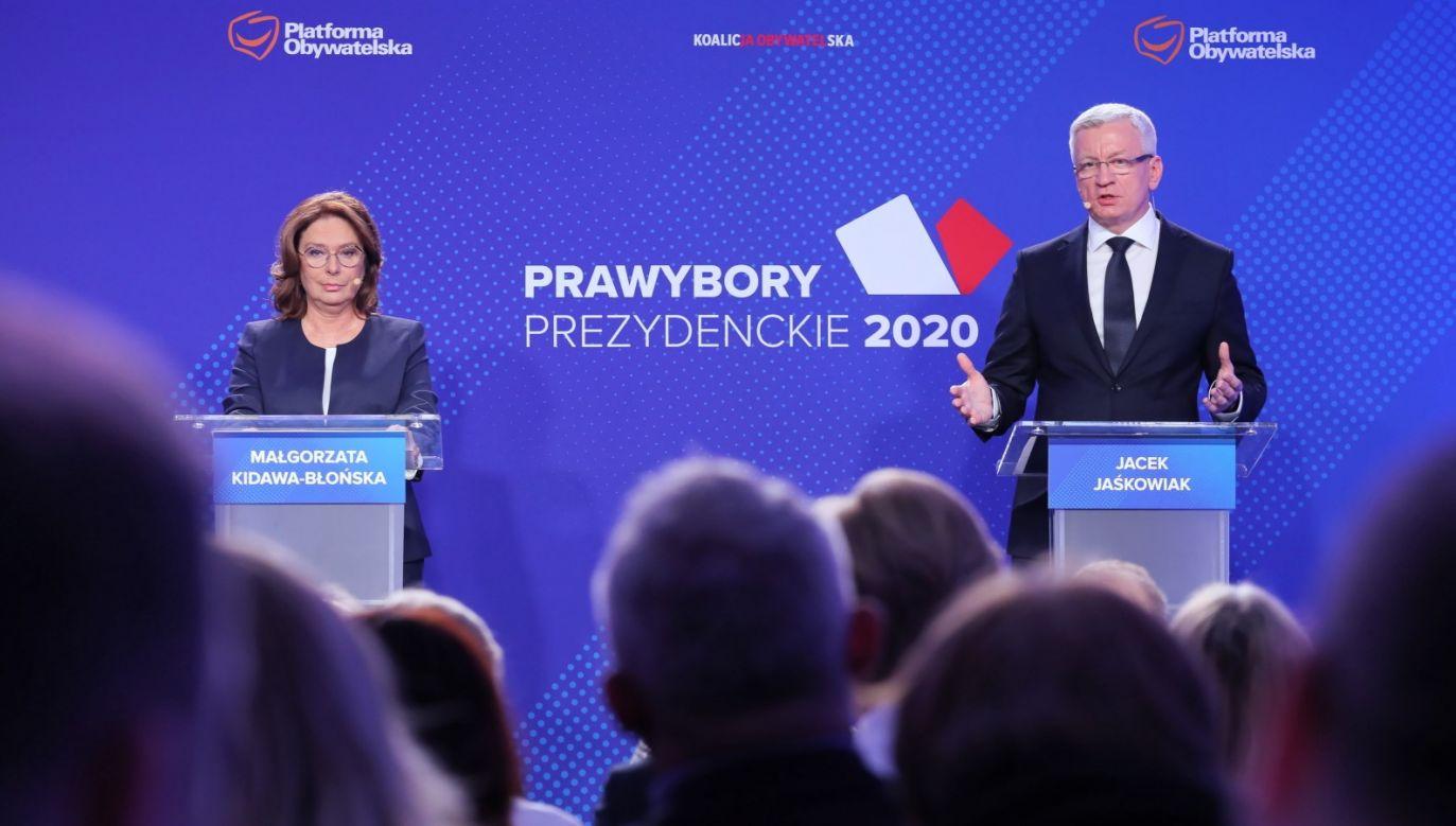 Zdaniem Michała Dworczyka, Kidawa-Błońska i Jaśkowiak nie przedstawili Polakom żadnej realnej oferty (fot. PAP/Paweł Supernak)