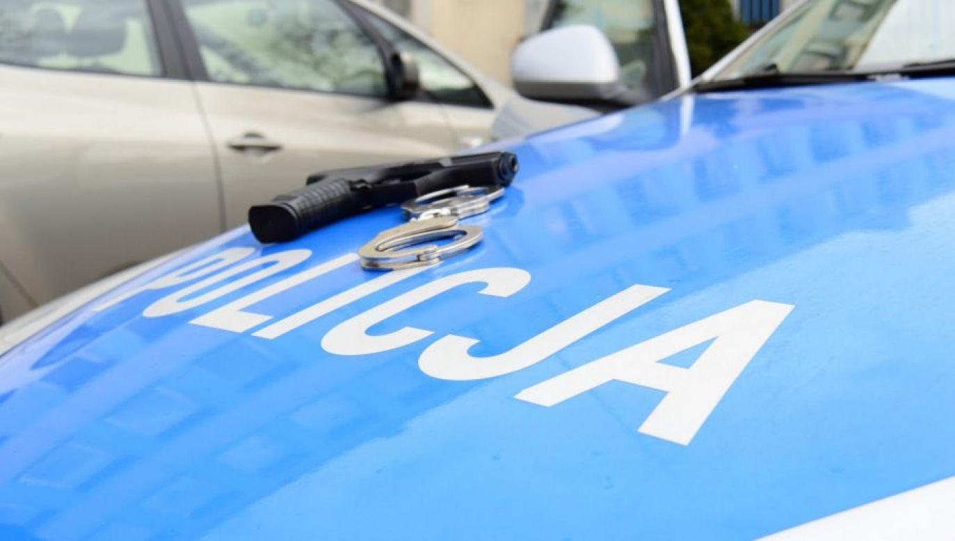 Zatrzymany został przewieziony do policyjnej izby zatrzymań (fot.tvp.info/Paweł Chrabąszcz)