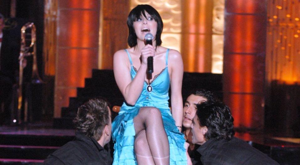Tatiana Okupnik z zespołu Blue Cafe (fot. TVP)