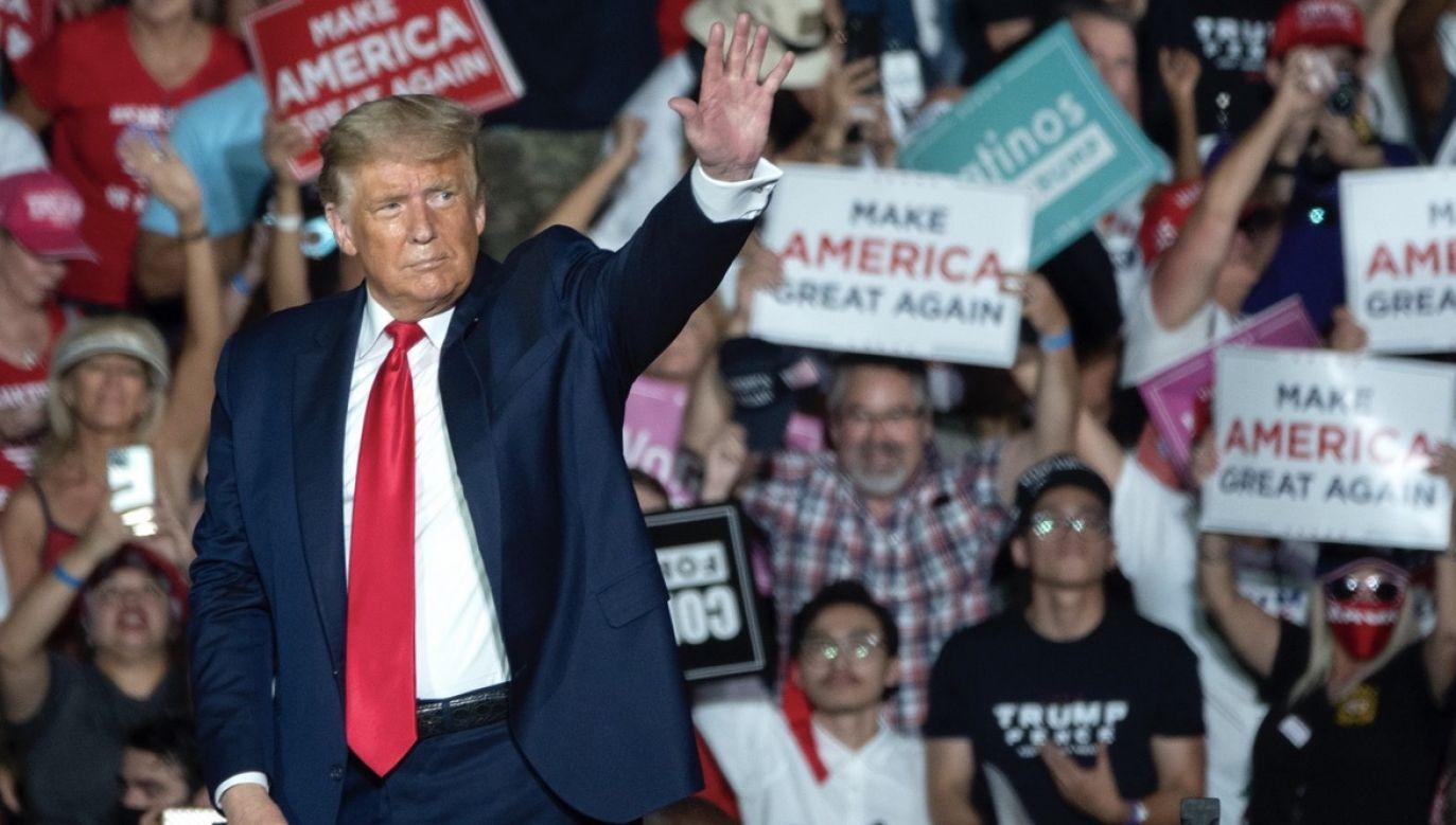 W ubiegłym tygodniu Donald Trump odwiedził Florydę dwukrotnie w ciągu kilku dni (fot. PAP/EPA/CRISTOBAL HERRERA-ULASHKEVICH)