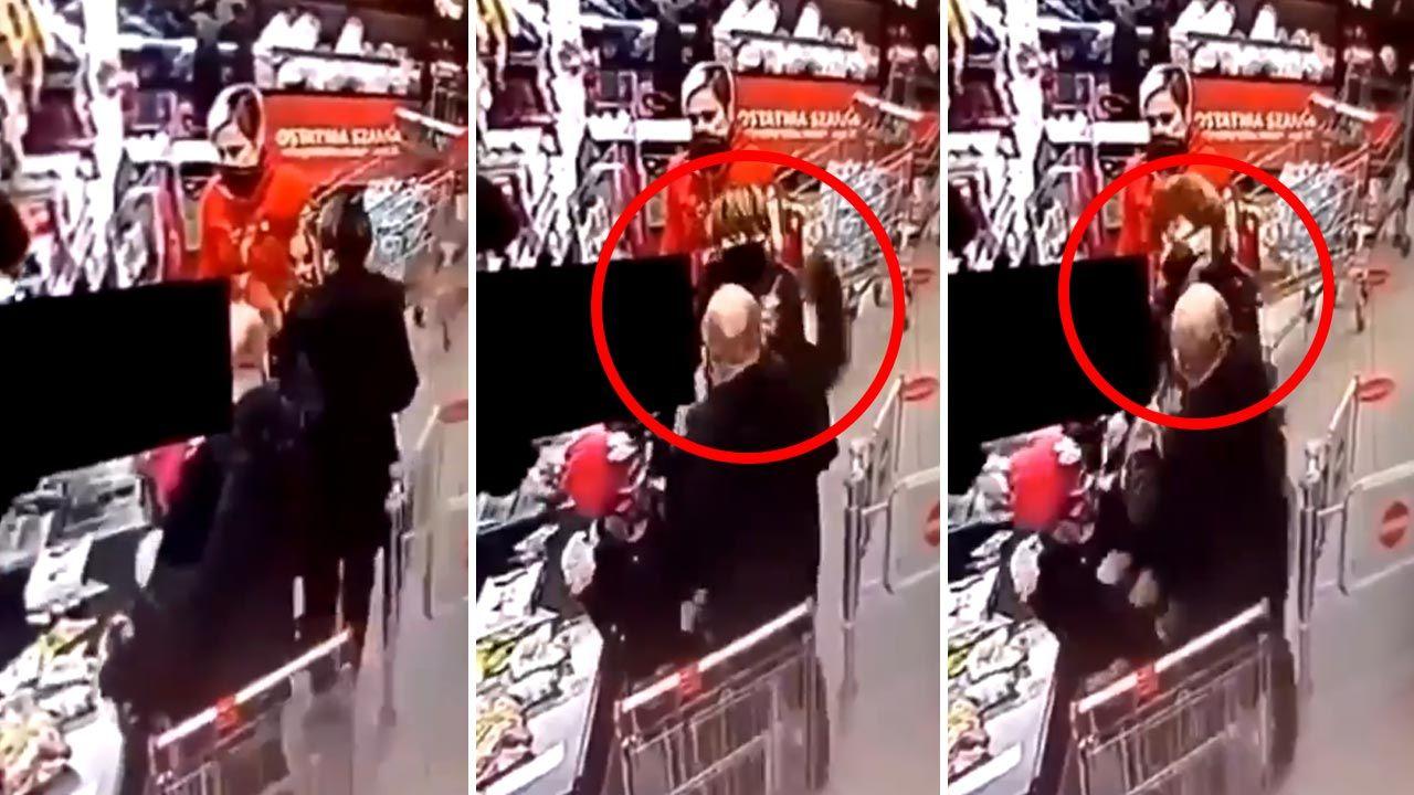 Do zdarzenia doszło w markecie w Lesznie (fot. Twitter/tomasz.golonko)