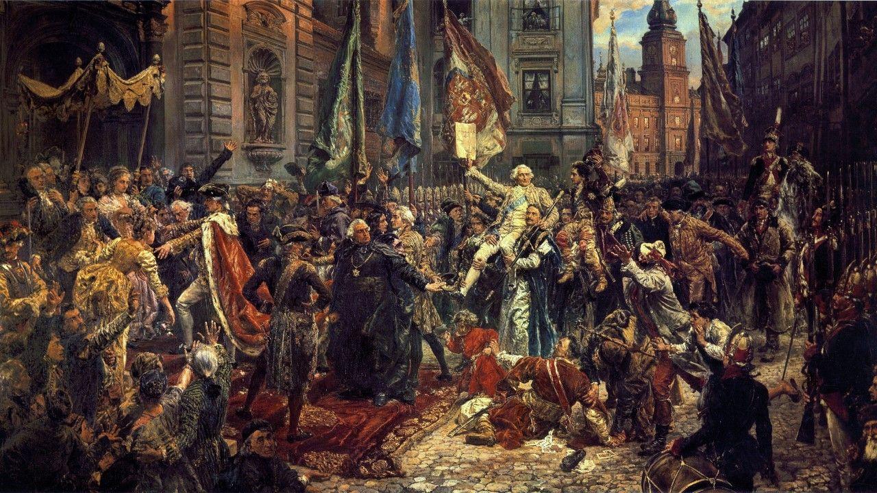 Konstytucja 3 maja Jana Matejki (fot. Jan Matejko, Public domain, via Wikimedia Commons