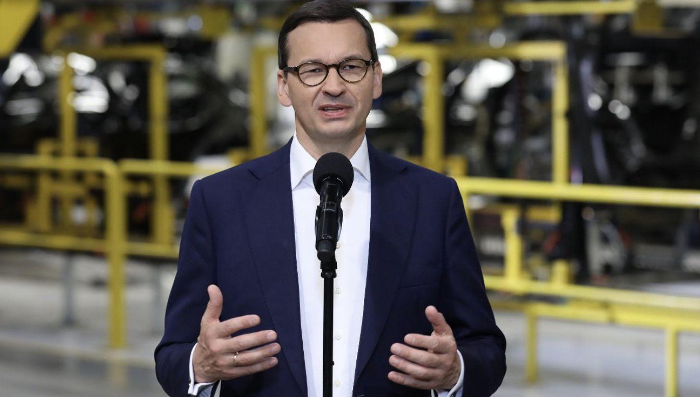 Premier Mateusz Morawiecki w zakładach Opla w Gliwicach (fot. KPRM)