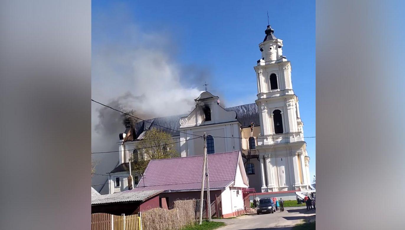 W czasie pożaru w kościele nie było parafian (fot. YouTube/ catholicby)
