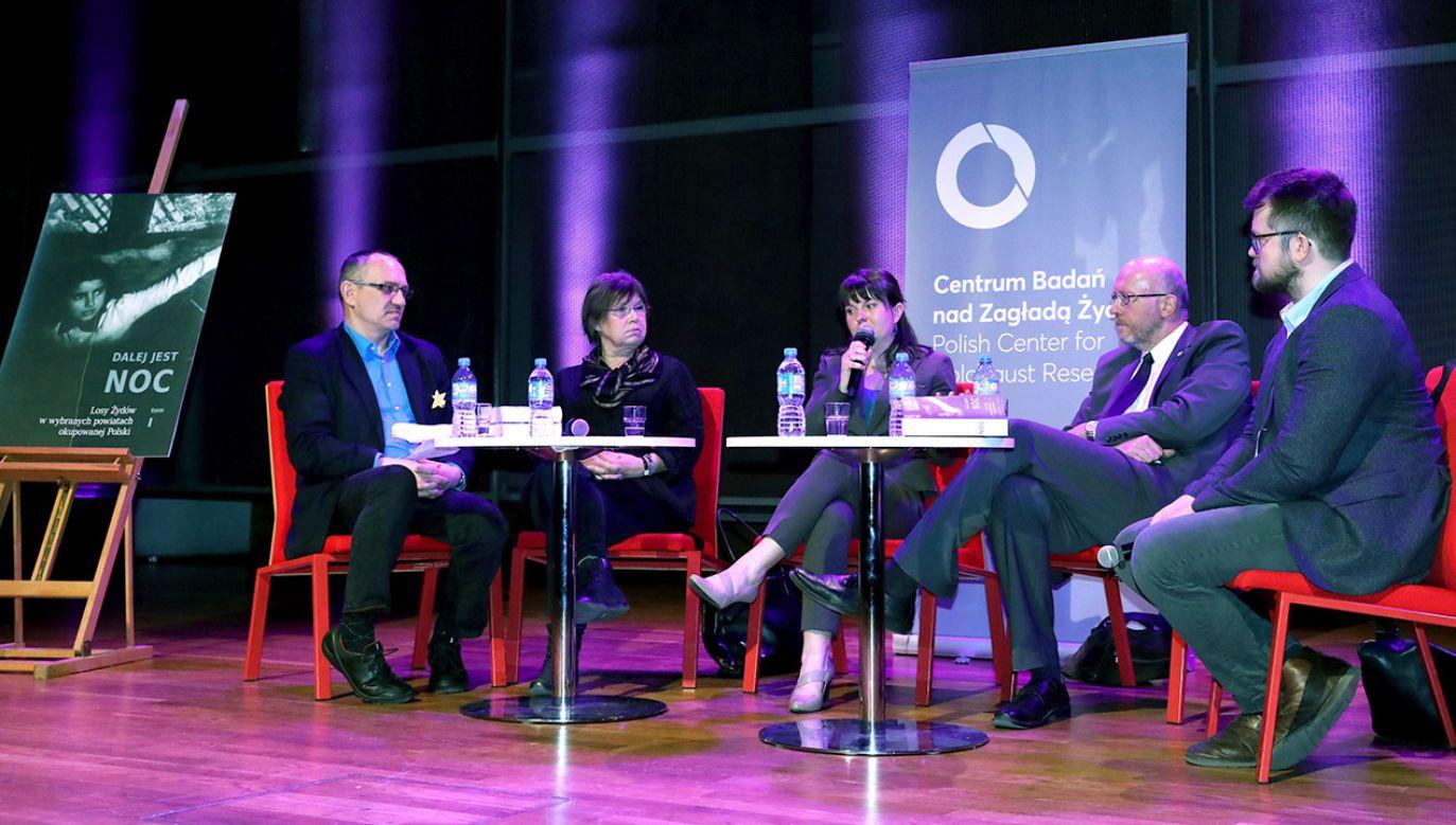 Barbara Engelking, Andrzej Grabowski  podczas przedpremierowej prezentacji książki