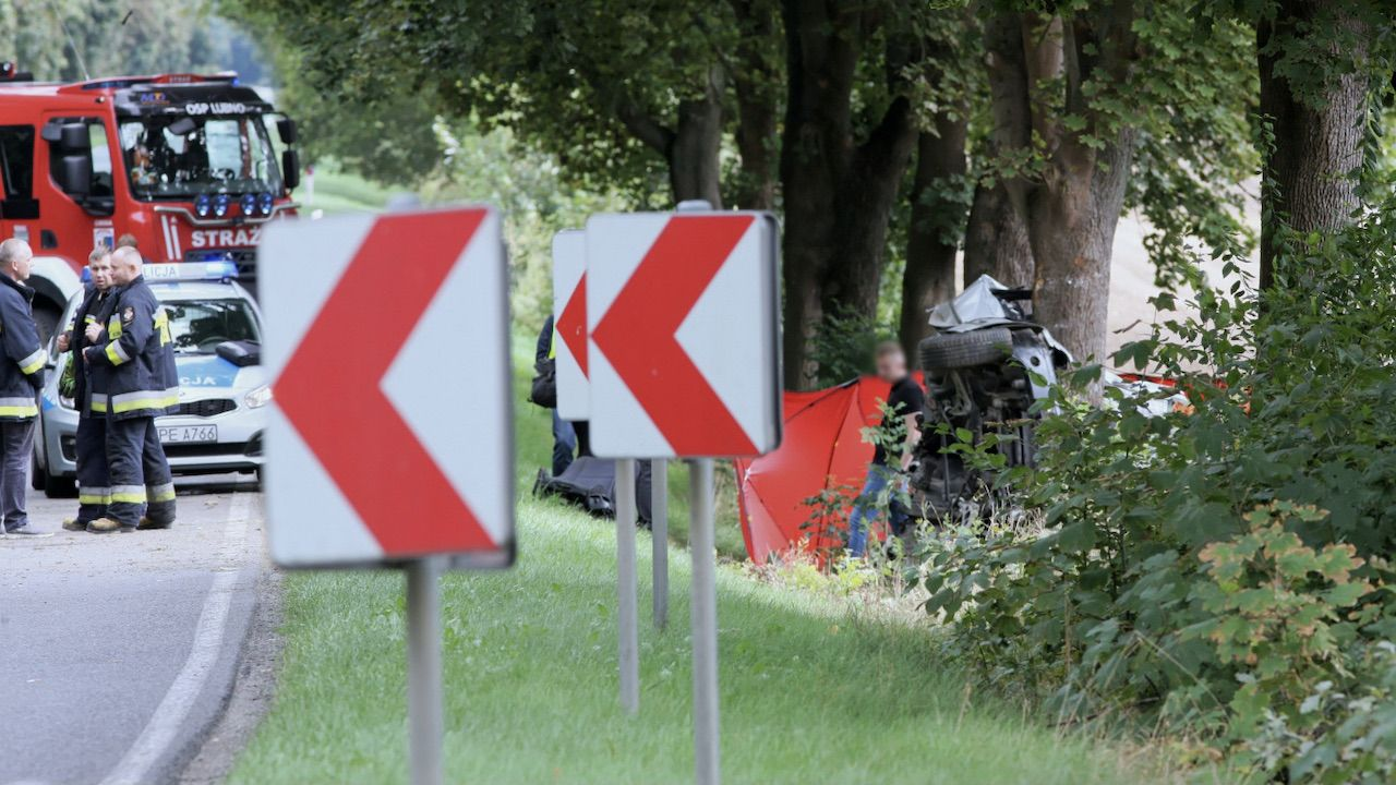 Wypadek z udziałem uczniów jadących do szkoły (fot. PAP/Lech Muszyński, zdjęcie ilustracyjne)