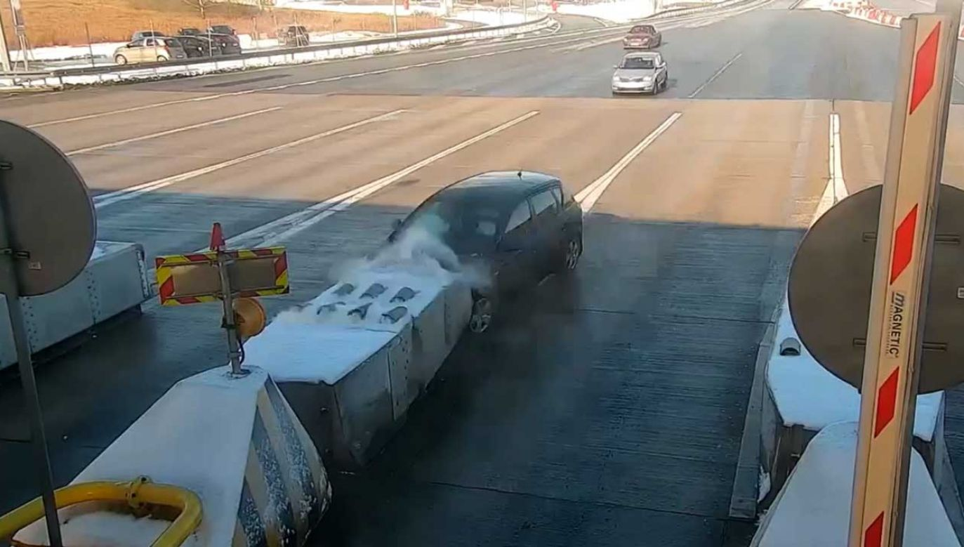 Wypadek na autostradzie A1 (fot. GDDKiA)