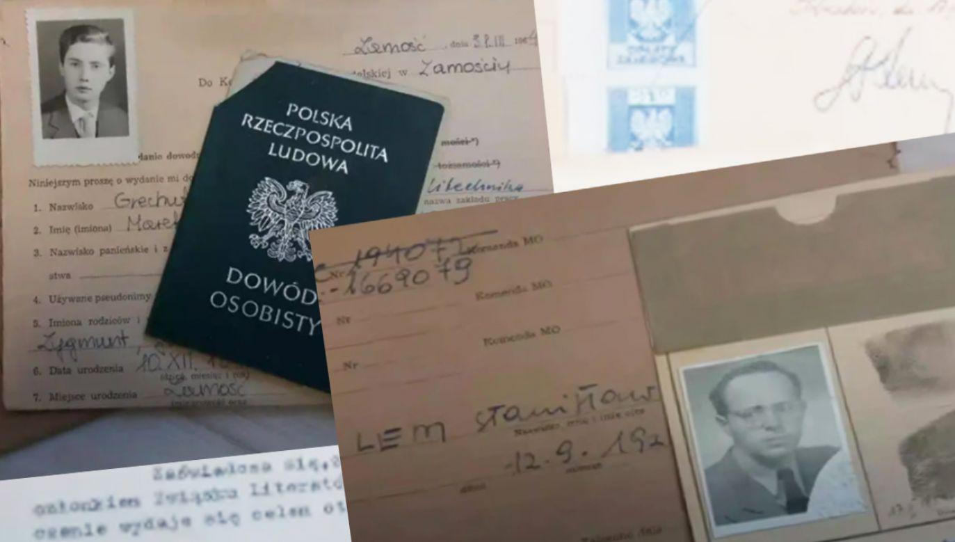 Koperta dowodów osobistych Stanisława Lema (fot. krowoderska.pl)