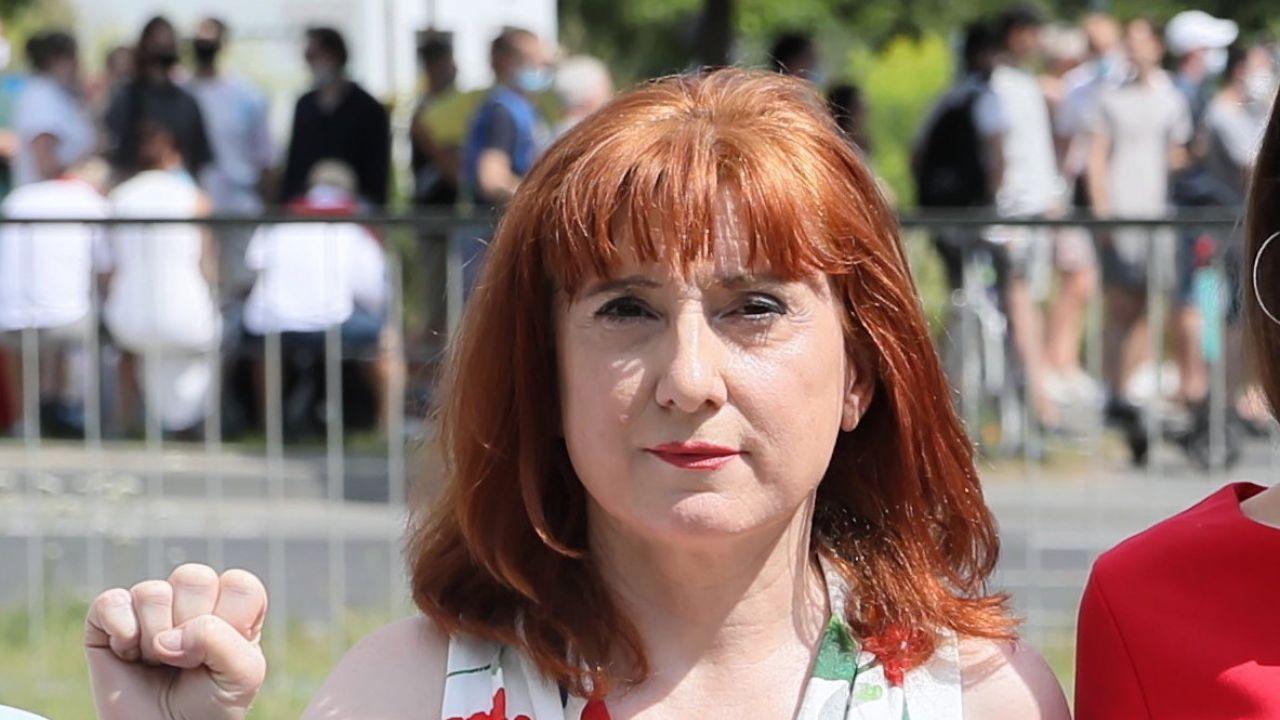 Posłanka Lewicy Małgorzata Prokop (fot. PAP/Leszek Szymański)