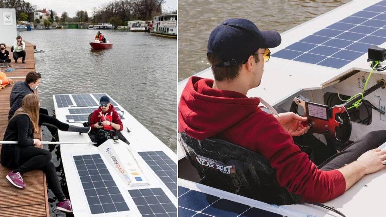 Łódź będzie w stanie osiągnąć prędkość 30 km/godz. (fot. PWr Solar Boat Team/mat.pras.)