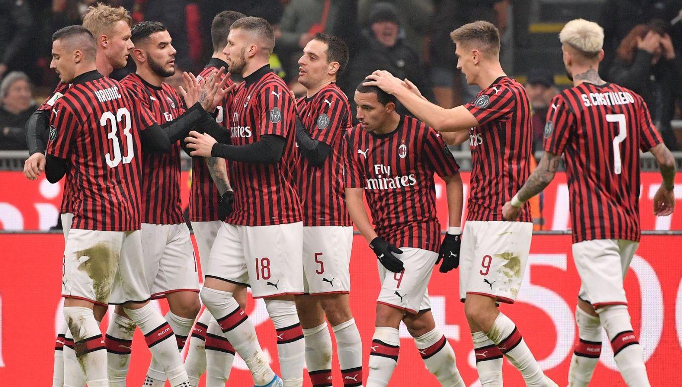 AC Milan – Udinese. Radość piłkarzy Milanu (fot. Getty)