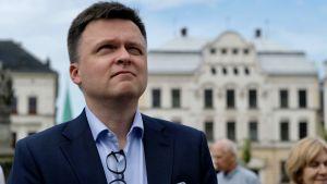 Przyznał, że o Tusku myśli z szacunkiem (fot. PAP/Andrzej Grygiel)
