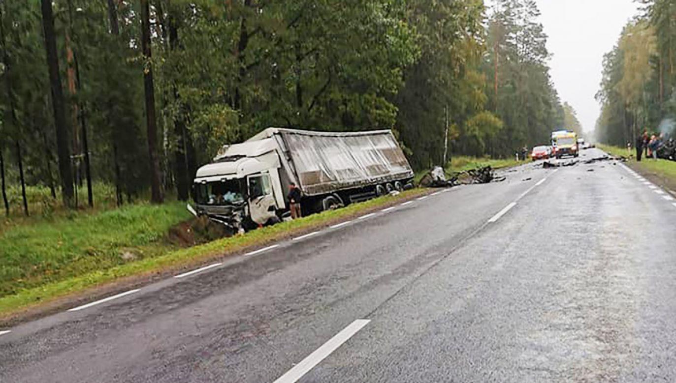 Wypadek w okolicach miejscowości Tatarowce (fot. FB/Kolizyjne Podlasie)