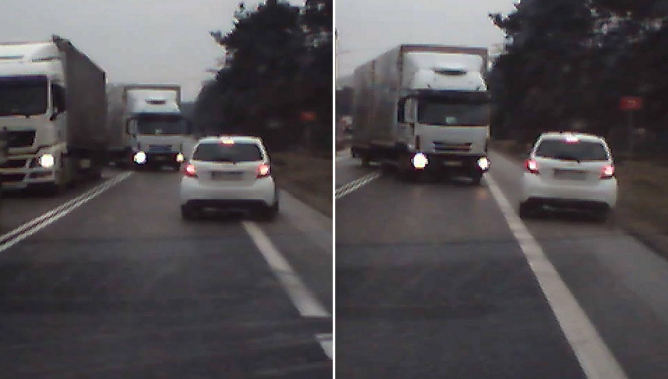 Dzięki refleksowi jednego z kierowców nie doszło do tragedii (fot. Policja)
