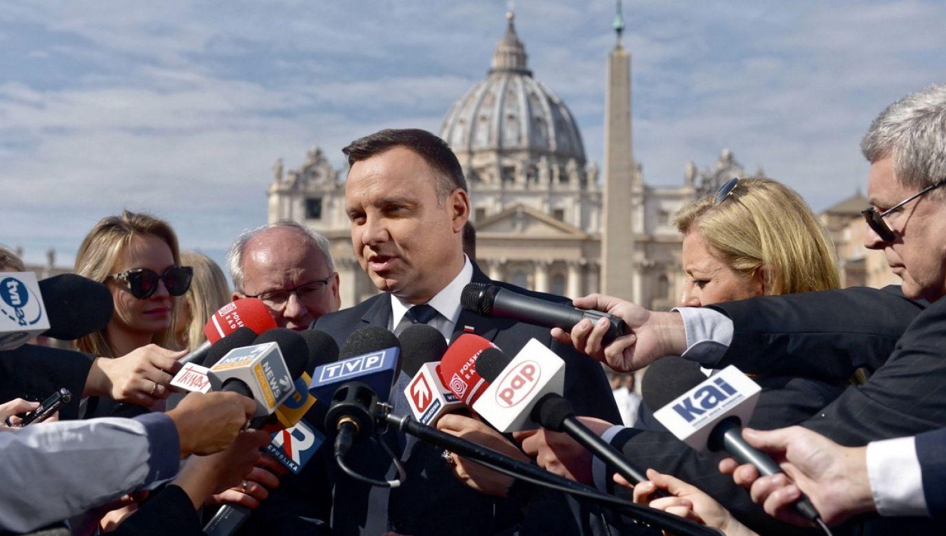 Pierwszą wizytę prezydent ma odbyć do Włoch (fot. arch.PAP/Jakub Kamiński)