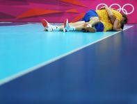 Po ostatnim gwiazdku arbitra Szwedzi szaleli z radości (fot. Getty Images)