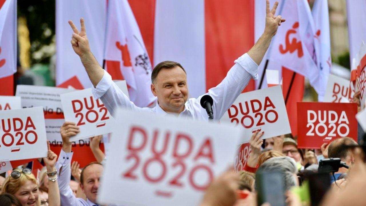 Grupa polonijnych naukowców i liderów polonijnych z USA apeluje o poparcie prezydenta (fot. PAP/Wojtek Jargiło)