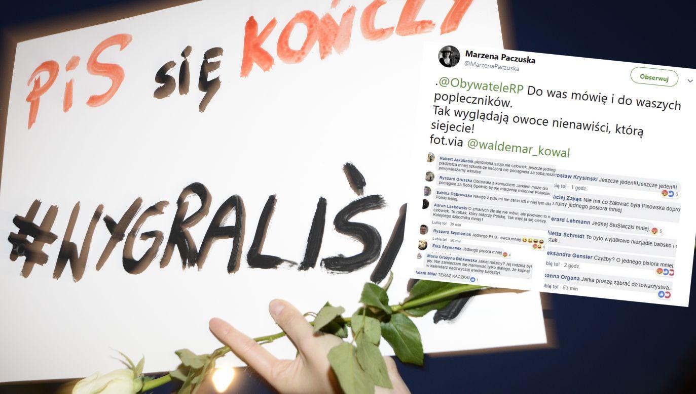 Marzena Paczuska swój wpis, w którym cytuje hejt, adresuje do Obywateli RP (fot. Jaap Arriens/NurPhoto via Getty Images)