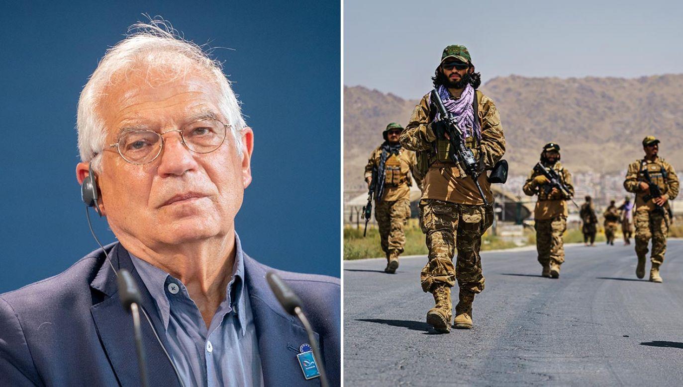 Josep Borrell o rozmowa UE z talibami (fot. Kay Nietfeld - Pool / Getty Images; MARCUS YAM / LOS ANGELES TIMES)