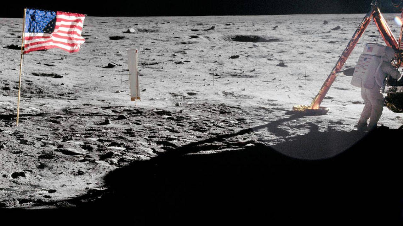 Neil Armstrong na Księżycu (fot. nasa.gov)