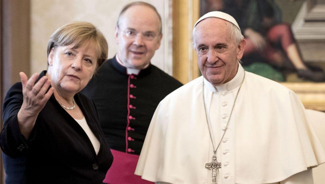 Angela Merkel i papież Franciszek wezmą udział w modlitwie o pokój (fot. Vatican Pool/Getty Images)
