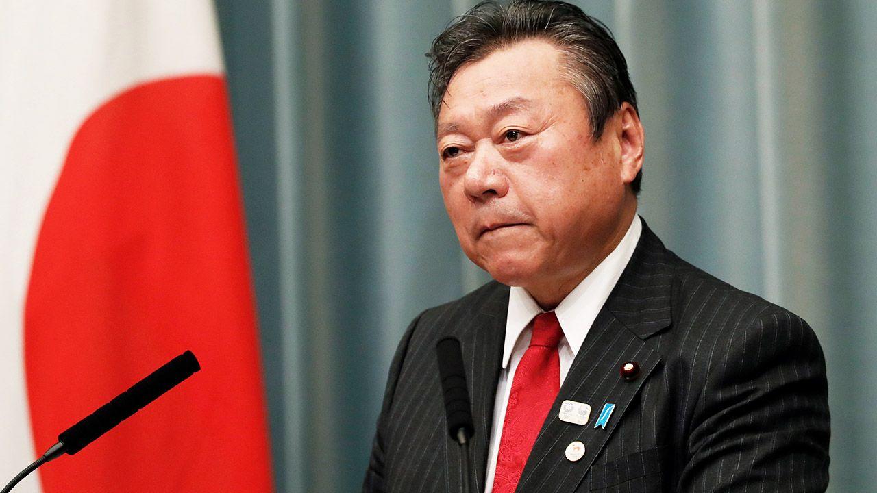 W ubiegłym miesiącu 68-letni Sakaruda został mianowany szefem resortu odpowiedzialnego za cyberbezpieczeństwo (fot. REUTERS/Issei Kato)