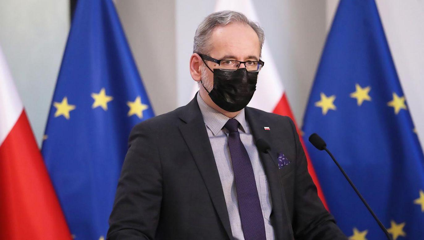 Minister zdrowia Adam Niedzielski (fot. PAP/Tomasz Gzell)