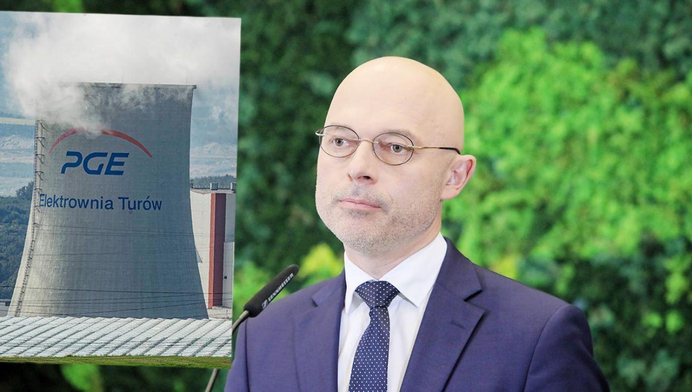Minister klimatu Michał Kurtyka (fot. PAP/Wojciech Olkuśnik, Aleksander Koźmiński)