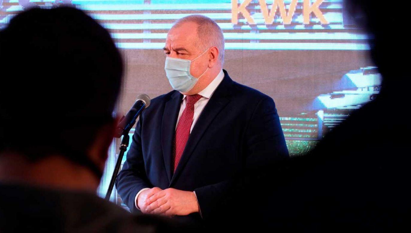 Wicepremier Jacek Sasin będzie pracować zdalnie (fot. PAP/Andrzej Grygiel)