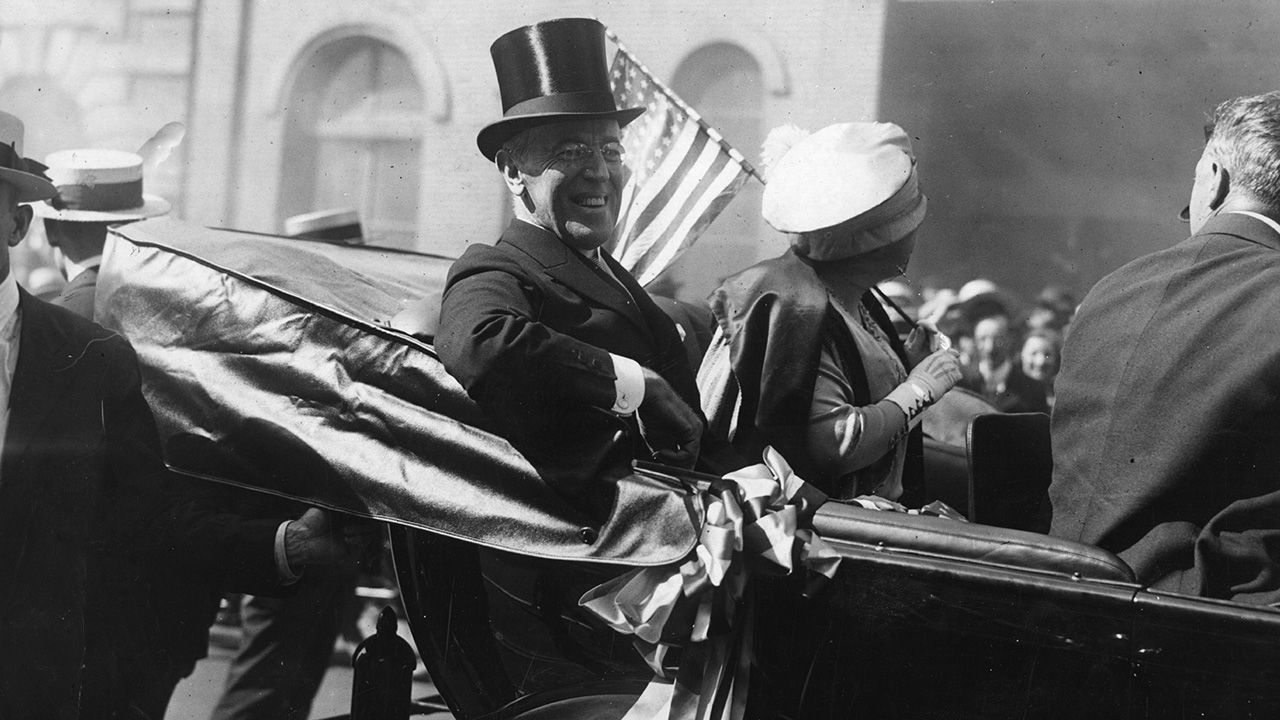 Prezydent USA Woodrow Wilson (fot. Hulton Archive/Getty Images)