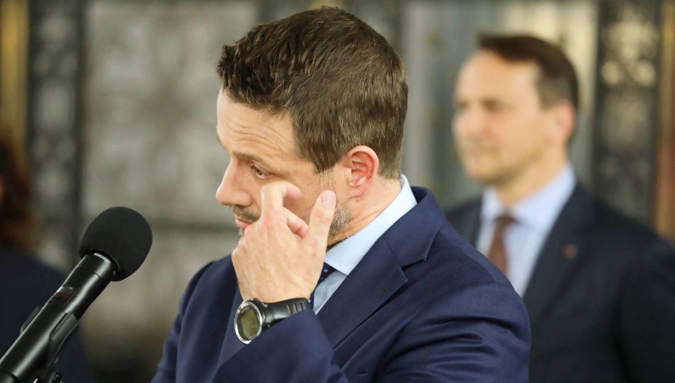 """""""Przecież wszyscy wiedzą, jakie mam poglądy"""" (fot. PAP/Tomasz Gzell )"""