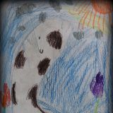 Lena Zając, 7 lat, tak namalowała CIelaczka