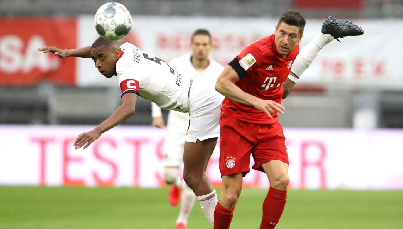 Gelsen Fernandes i Robert Lewandowski (fot. Getty Images)