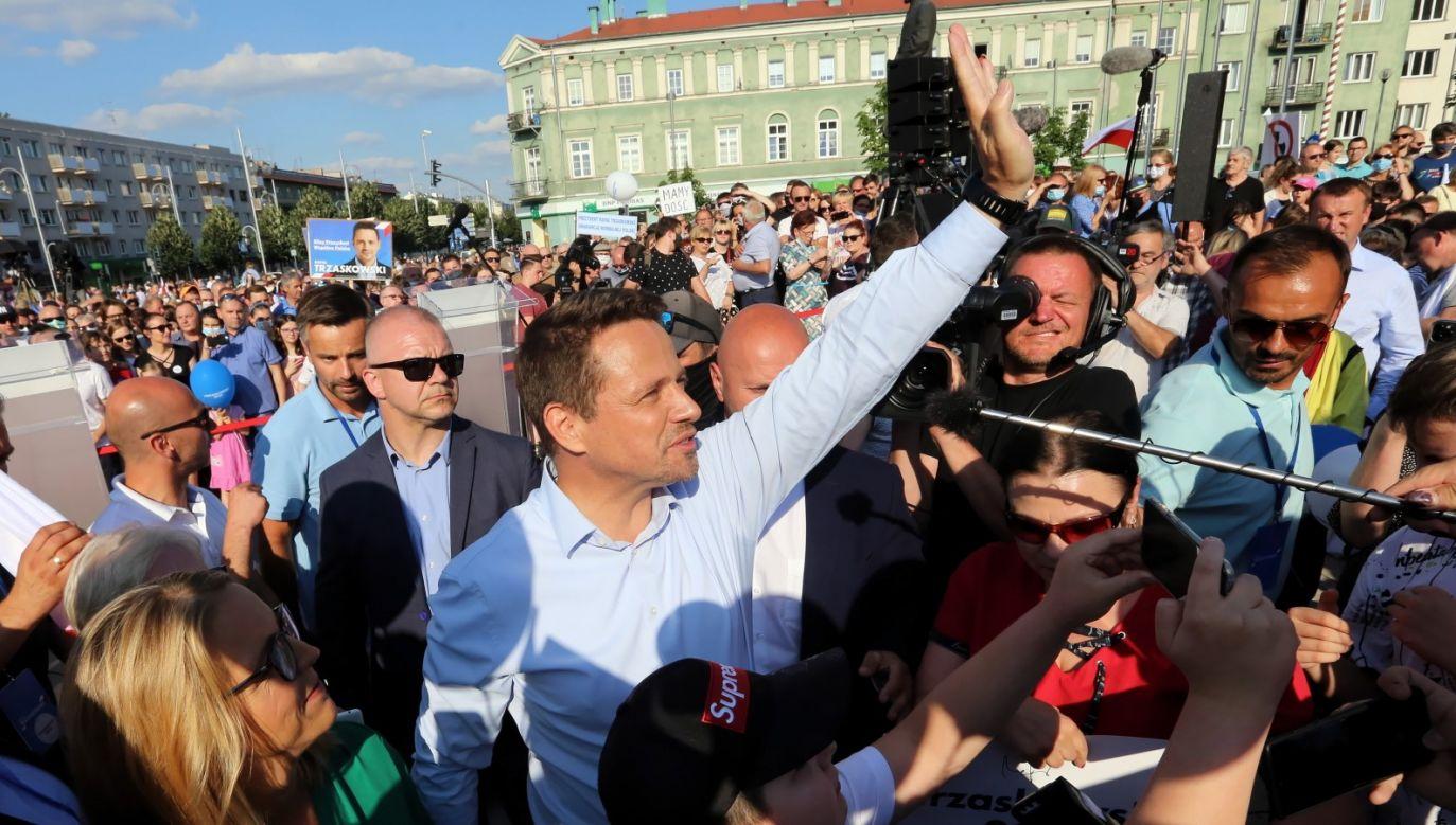 Sam Trzaskowski odmówił wzięcia udziału w debacie organizowanej przez TVP (fot. PAP/Waldemar Deska)