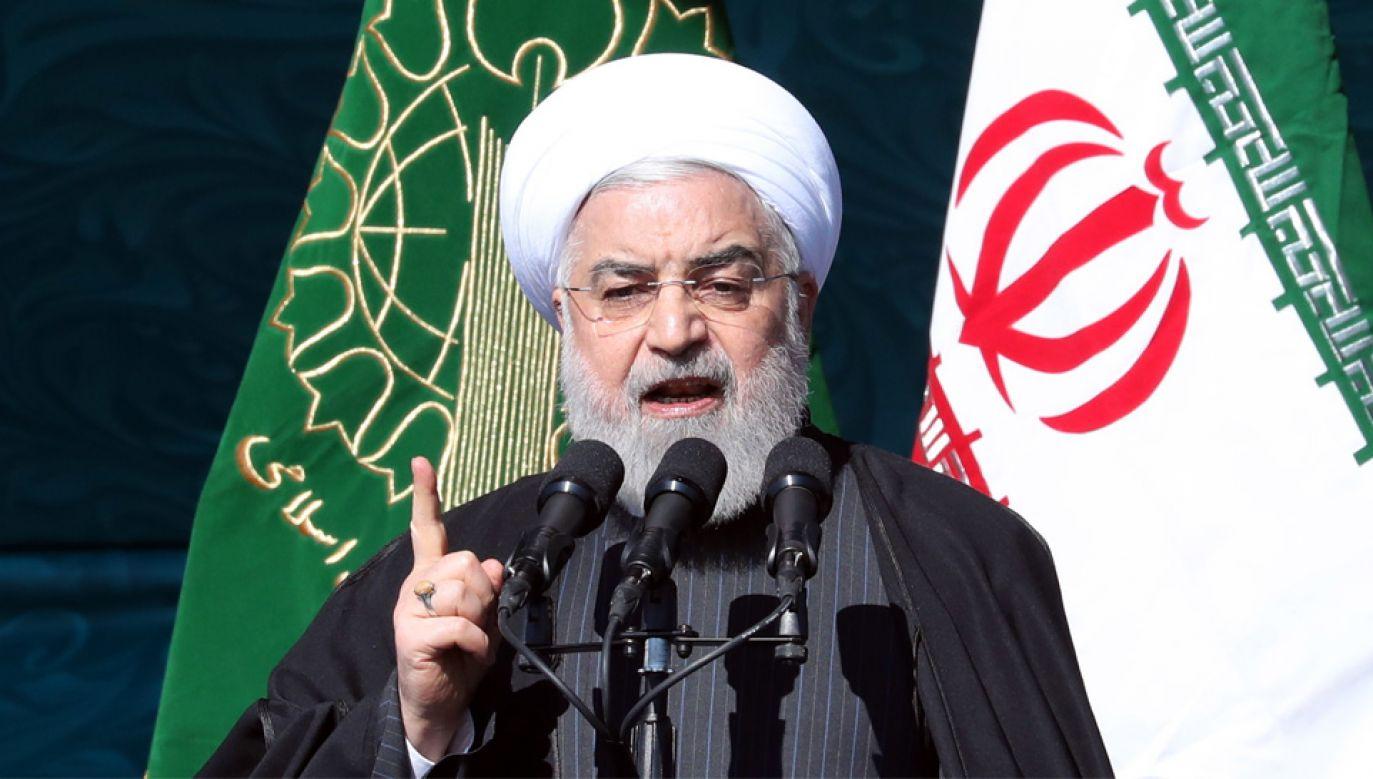 Prezydent Iranu Hasan Rowhani nie wyklucza negocjacji z USA (fot. PAP/EPA/ABEDIN TAHERKENAREH)
