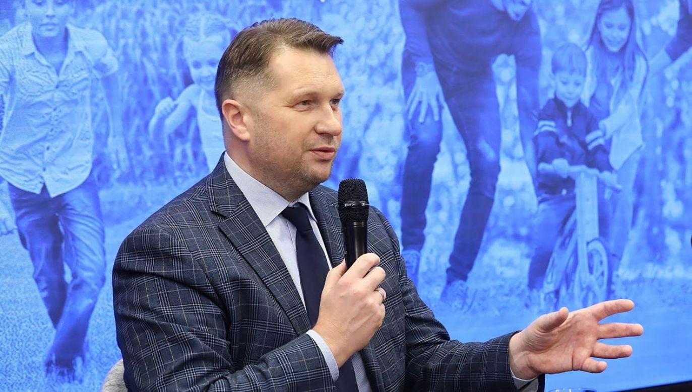 Szef MEiN nt. rodziny (fot.  PAP/Rafał Guz)