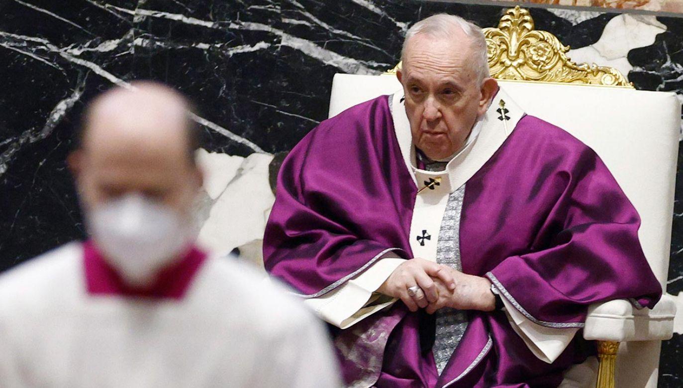 Papież Franciszek poleci w marcu do Iraku (fot. PAP/EPA/GUGLIELMO MANGIAPANE / POOL)