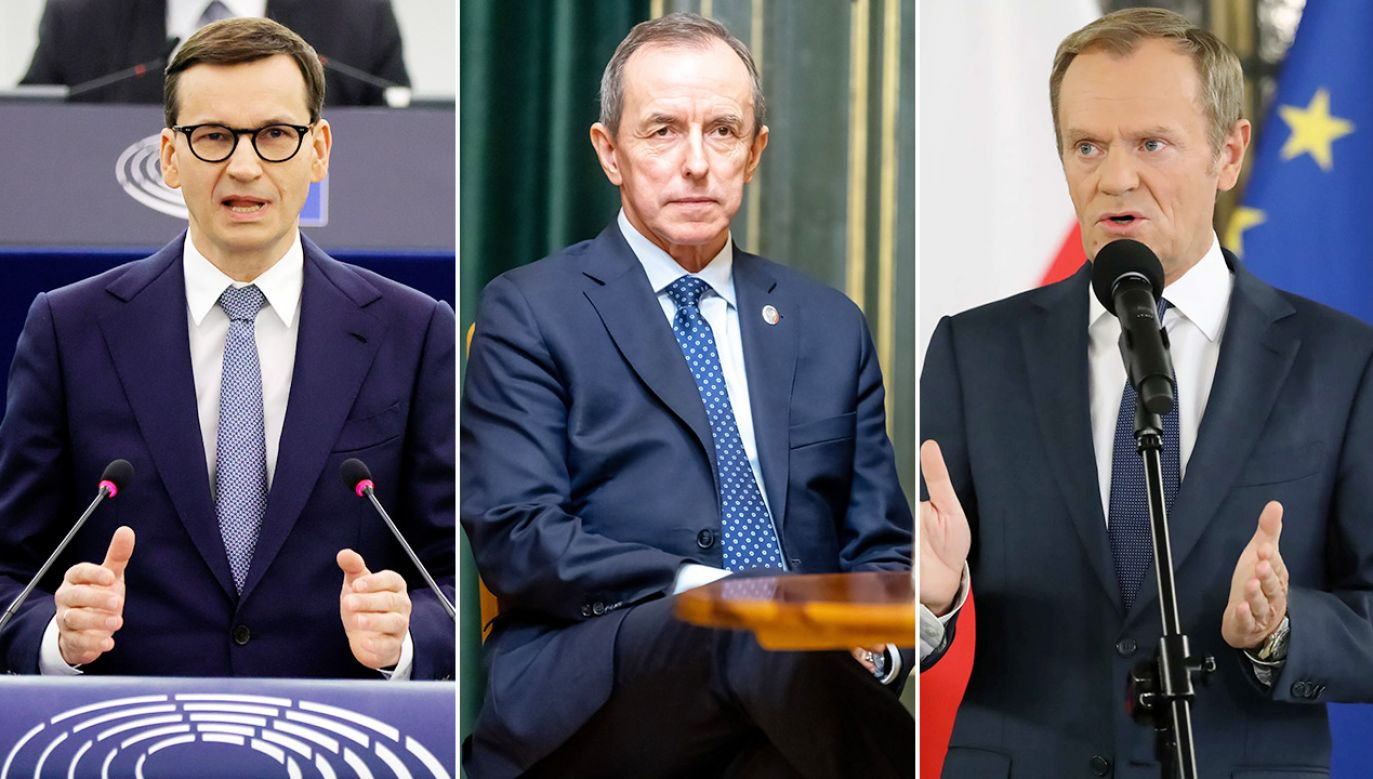 Mateusz Morawiecki, Tomasz Grodzki, Donald Tusk (fot. PAP/EPA/RONALD WITTEK / POOL; PAP/Tytus Żmijewski, Tomasz Gzell)