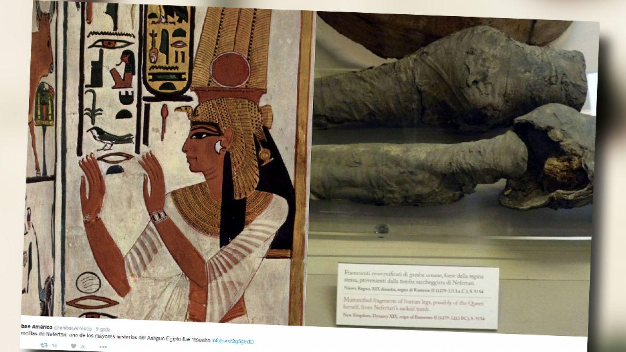 Szczątki Nefertari odkrytko ponad sto lat temu, ale dopiero teraz je zbadano (fot. TT/Infobae América)
