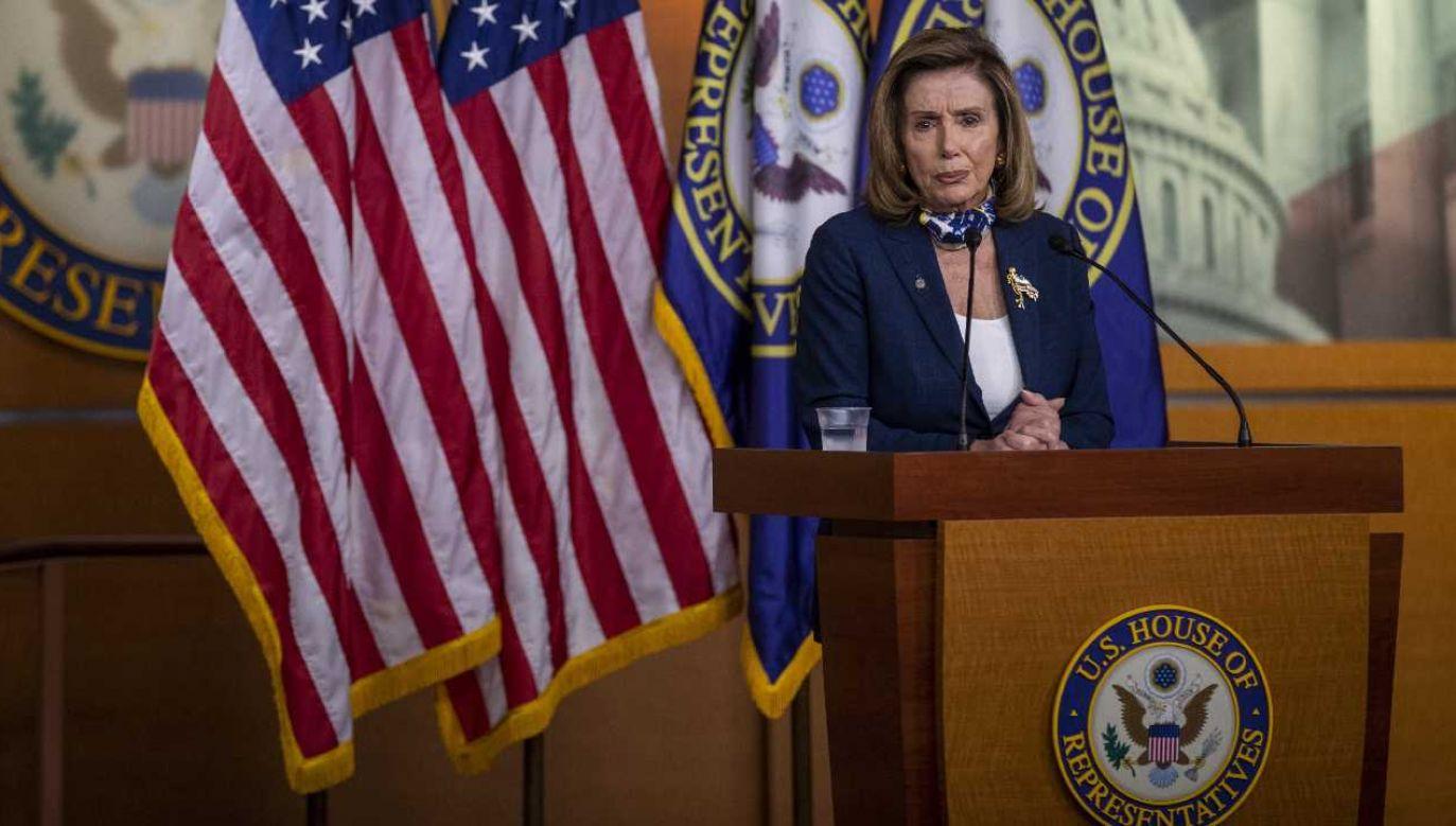 Przewodnicząca Izby Reprezentantów Nancy Pelosi (fot. PAP/EPA/SHAWN THEW)