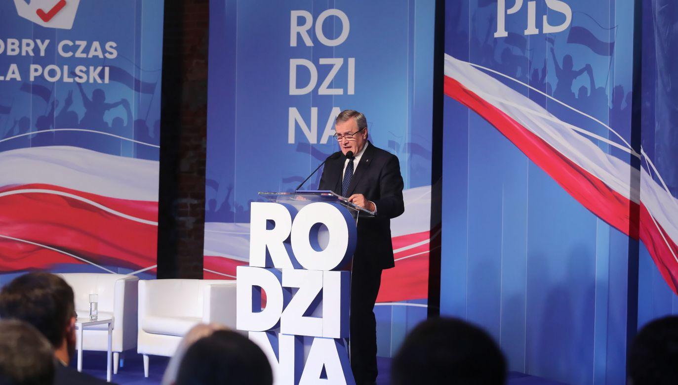 Minister kultury Piotr Gliński (fot. PAP/Roman Zawistowski)